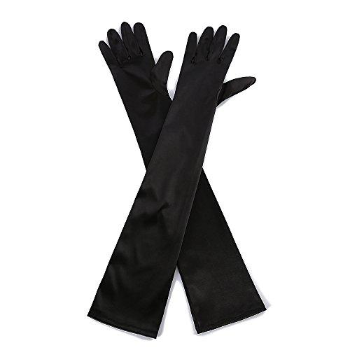 Black Satin Opera Gloves (Marvel O Bug 22