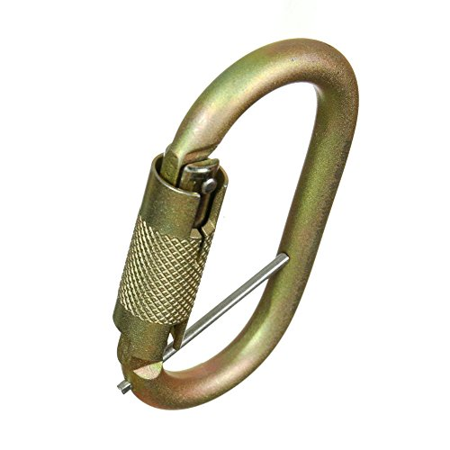 Fusion Climb Ovatti Military Tactical Edition Steel Auto Lock Oval Symmetrical Anchor Carabiner with Captive Eye Pin Gold by Fusion Climb (Image #7)