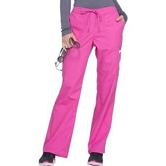 90ace3111a9 ScrubStar Women's Fashion Essentials Drawstring Cargo Scrub Pants (Medium,  Shocking Pink)