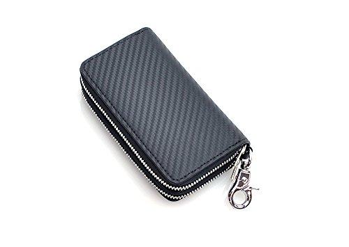 88158d72b6be [BEAMZ SQUARE(ビームス スクエア)] カーボンレザー マルチキー ウォレット 財布(キー
