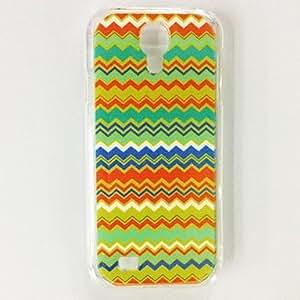 MOM Waves Stripe Pattern Plastic Hard Case for Samsung S4 I9500 , Multicolor