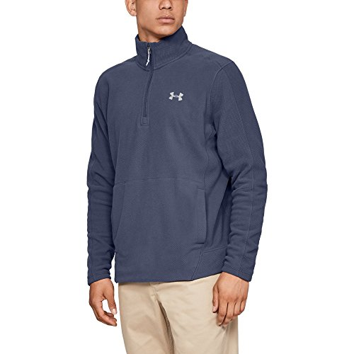 Under Armour Men's Zephyr Fleece Solid 1/4 Zip Sweat Shirt, Utility Blue (496)/Elemental, Large