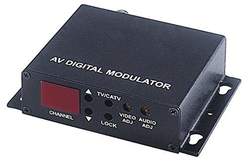 Catv Modulator (SPT Security Systems 15-TV06S Modulator AV Digital Modulator, Black (15-TV06S))