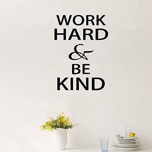 pouit Vinyl Wall Art Inspirational Quotes and Saying Home decor Decal Sticker Work Hard Be Kind Motivational Quotes Wall Sticker Diy Decorative Inspirational Office Quote S Vinyl Wall Decal by pouit