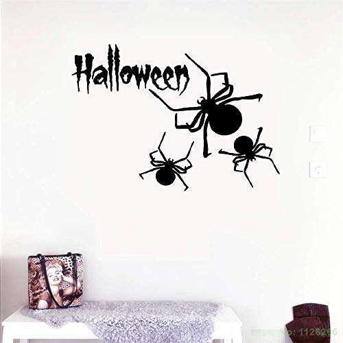 Tyerai Removable Vinyl Decal Art Mural Home Decor Wall Stickers Spider Halloween Horror Mystery