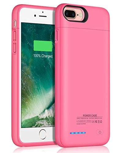 iPhone 8 Plus/7 Plus Battery Case/JUBOTY 4200mAh Slim Rechargeable Protective Portable Charging Case for iPhone 8 Plus/7 Plus Juice Power Bank Battery Charger Case