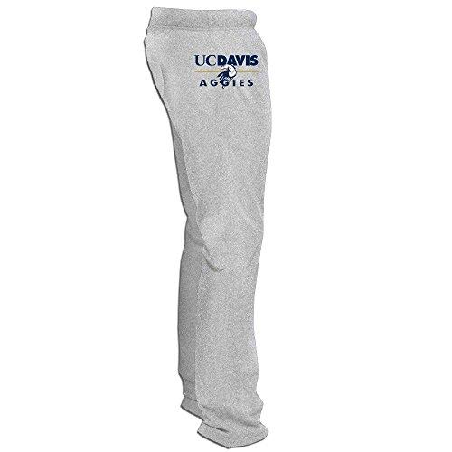 (MZONE Awesome University Of California Davis Mascot Running Pants For Men Ash Size XXL)