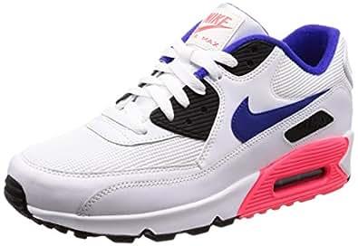 buy popular e57ed 7b8f1 Nike Men's AIR MAX 90 Essential, White/Ultramarine-Solar RED ...