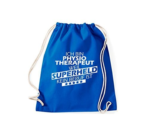 Shirtstown - Bolso de tela de algodón para mujer azul cobalto