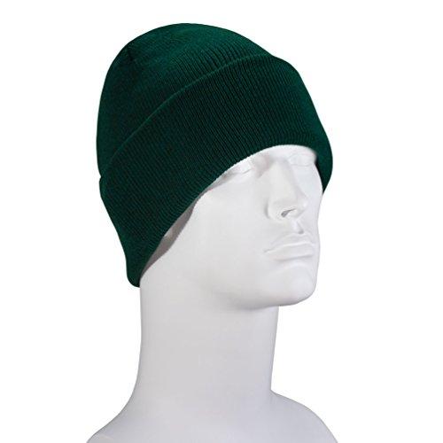 Hunter Green Thinsulate Ski Hat - 40 Gram - Single Piece - Made in USA
