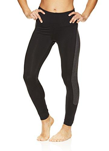 (HEAD Women's Rejuvenated High Rise Leggings - Performance Activewear Yoga & Running Pants - Black, Large)