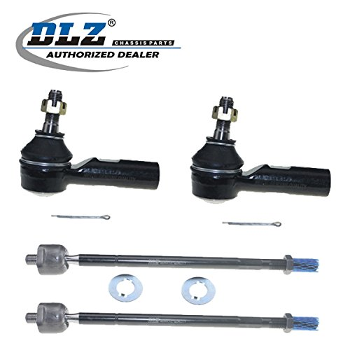 DLZ 4 Pcs Front Suspension Kit-2 Inner 2 Outer Tie Rod End Compatible with 1995-2004 Toyota Avalon 1992-2001 Toyota Camry 1998-2003 Toyota Sienna 1999-2003 Toyota Solara 1992-2001 Lexus ES300 ES3306