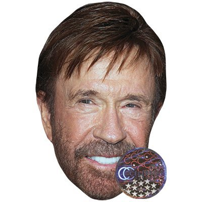 Chuck Norris Celebrity Mask, Card Face and Fancy Dress -