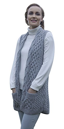 ladies-merino-wool-celtic-gilet-cardigan