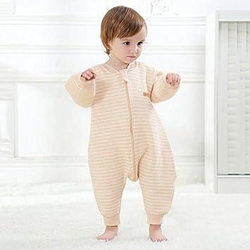 Bebé Bolsa De Dormir Recién Nacido Algodón Anti Patada Slee Saco Partido Pierna Dormir Mono Perezoso