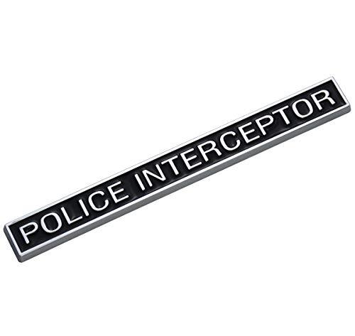 EmbRoom Police Interceptor Emblem, 3D Emblems Trunk Nameplate