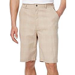 Geoffrey Beene Men's Classic-Fit Lightweight Plaid Shorts Khaki 34