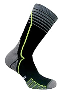 Vitalsox VT6810 Italian Made Compression Ligament Support Sport Crew Socks with Silver DrystatItalian, Small, Black (1 pair Fitted)