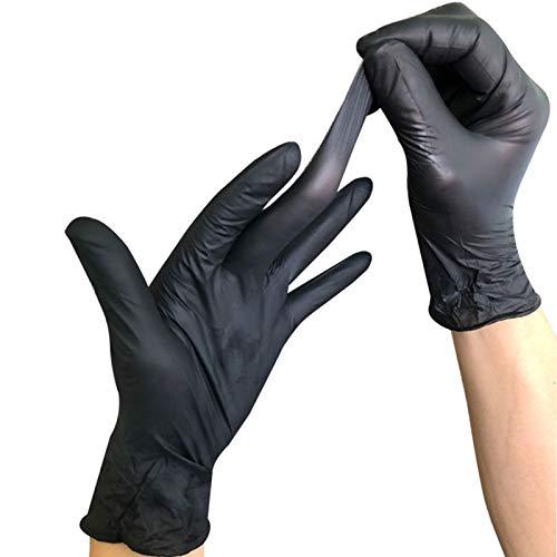 Caja de 100 guantes Env/ío R/ápido Tantra Guantes de Nitrilo Sin polvo Stock Disponible Color Negro talla M