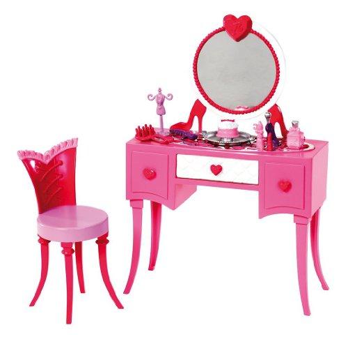 Barbie Glam Vanity Furniture Set (Furniture for Barbie Dolls)