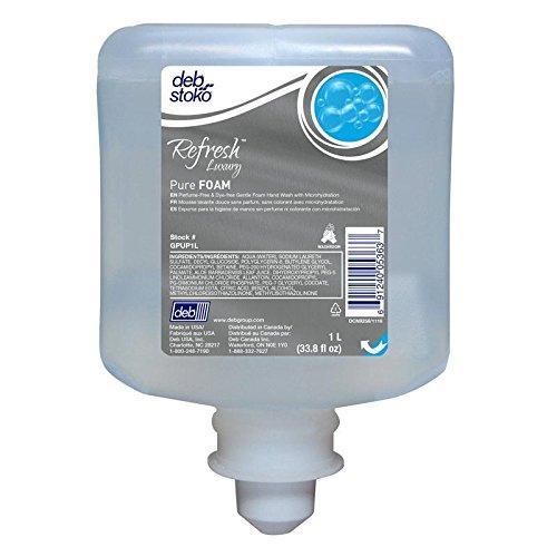 Refresh Luxury Pure Foam Soap 1 Liter Refill, Pack of 6