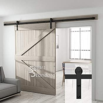 10ft Heavy Duty Sliding Barn Door Hardware Kit   Super Smoothly And Quietly    Simple And