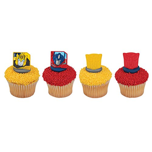 Transformers Autobot Protectors Cupcake Rings - 24 pc