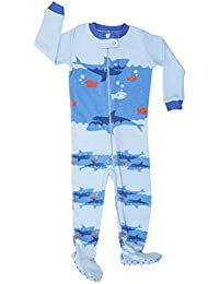 50e4b75f12 Elowel Baby Boys Footed Shark Pajama Sleeper 100% Cotton (Size 6M-5Years)