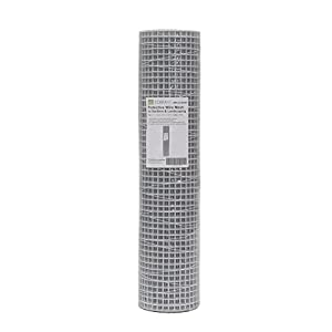 Terra Life 1/2 mesh, 36 Inch tall x 50 Foot long, Wire mesh & Hardware cloth, Galvanized wire + PVC protective coating (White)