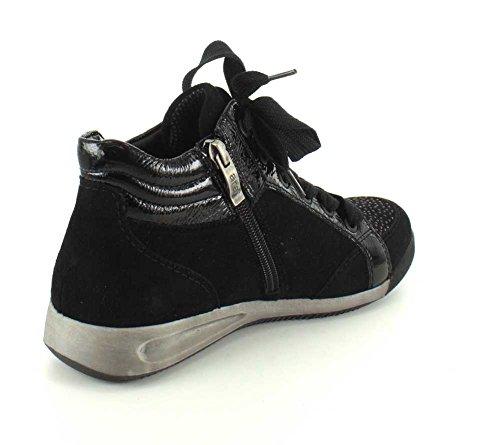 Black women's Ara Leather Ara women's Sneaker PXrOrvxWp