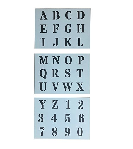 Alphabet Stencils Letter Numbers 3CM Tall 1 18
