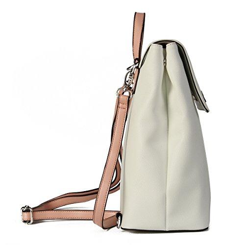 Dark School Backpack Leather Girls Teenager Women Kadell Casual White Bag Blue Mini Daypack For WxPaHH