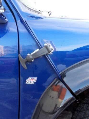 Black Bonnet Rubber Hooks Kit Lock Down Hood Locks Pins Racing Rally Use