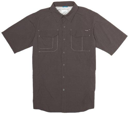 Columbia Mens Silver Ridge Short Sleeve Shirt, X-Large, Grill