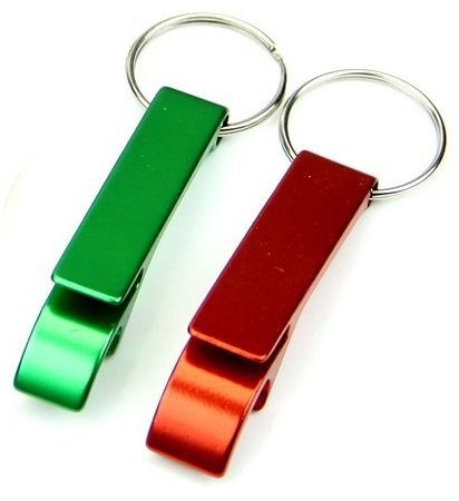 Keychain Beverage - Set of 2 - Key Chain Beer Bottle Opener/Pocket Small Bar Claw Beverage Keychain Ring