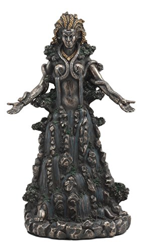 Ebros Irish Triple Goddess Danu Statue Mother Goddess Don Patron Deity Of The Land With Rivers Streams of Water Figurine Gaia Equivalent