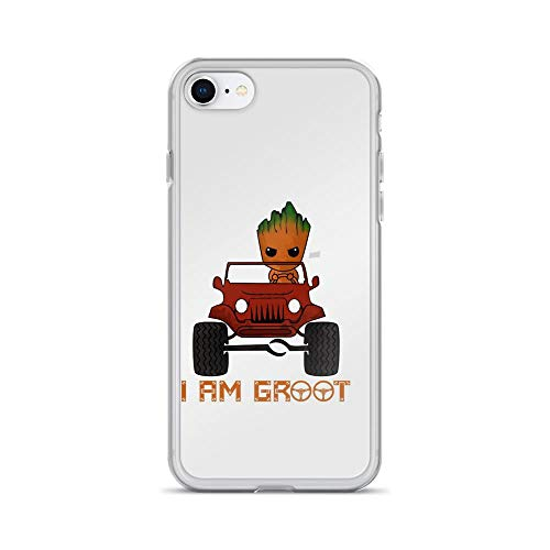iPhone 7/8 Pure Clear Case Cover I Am Groot -
