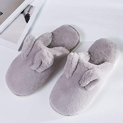 Antideslizante S Algodón Los E Características color Yhujh Otoño Black De Meses Calzado Size Invierno Resistente Al Amantes Home Grey Cálido Zapatos Desgaste Del 88xw1Pz