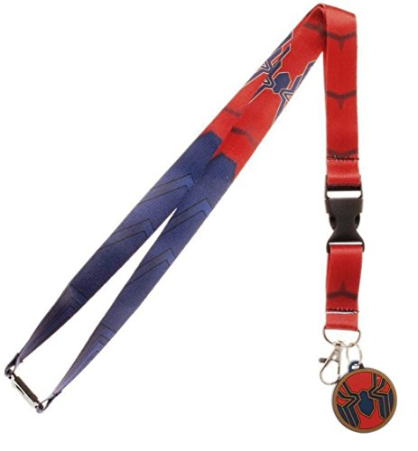 Avengers Infinity War Spiderman Logo LANYARD ID Holder Keychain