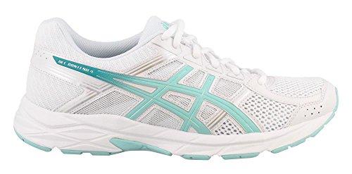 ASICS Womens Gel-Contend 4 Running Shoe White/Aruba/Silver YXGf2Ag