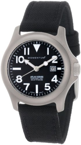 - Momentum Women's 1M-SP01B6B Atlas Black Dial Black Cordura Watch