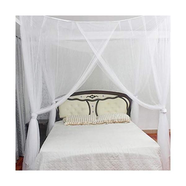 LinZX Mosquito Net Letto a baldacchino Corner 4 Telo Doppio Four Corner Room Decorazione appesa Mantovana,20.44 2 spesavip