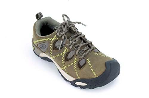 Genova Leather - KEEN Genova Peak Womens Black/Brown Leather Fashion Sneakers 35 - US 5