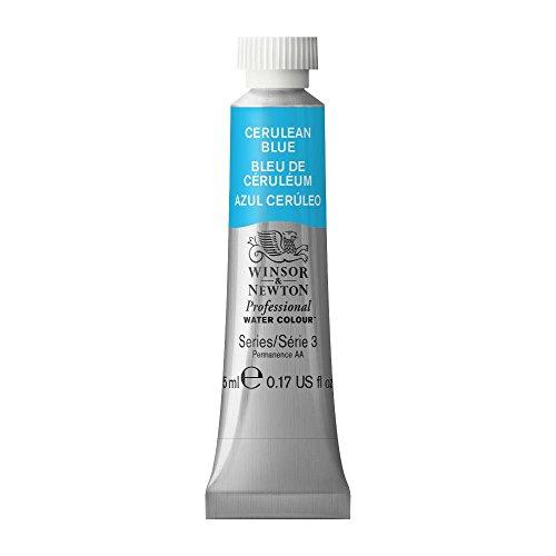 Winsor & Newton Professional Water Colour Paint, 5ml tube, Cerulean Blue