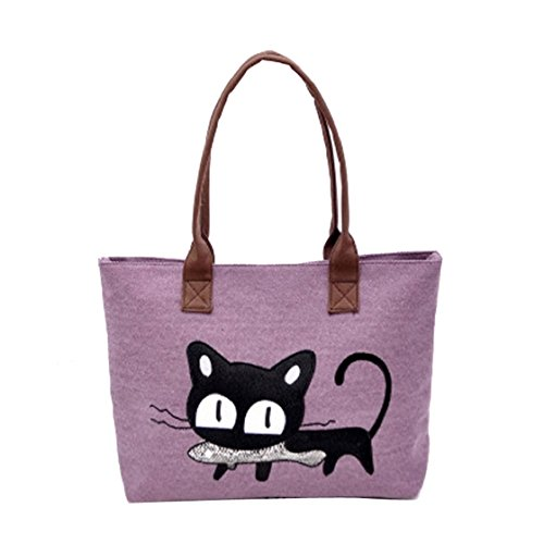Borsa Viola Cat Donna cachi Sannysis® A Moda Ufficio Lunch Tracolla Cute Bag Della qRnOBE4OZ