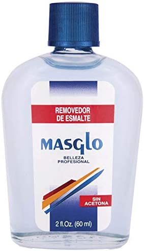 MASGLO PLUS/RESTO REMOVEDOR DE Esmalte (Azul CLÁSICO) 60ml, Único