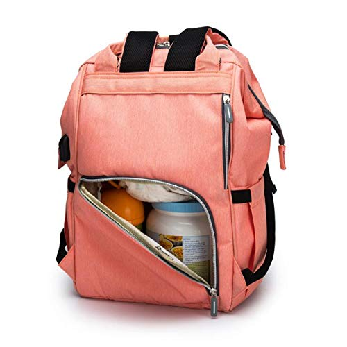 New Upgrade Large Size Diaper Bag Backpack with USB Charging Hole Stylish and Durable Multi-Function Waterproof Maternity Travel Nappy Changing Backpack Nappy Bags for Baby Care Large Capacity