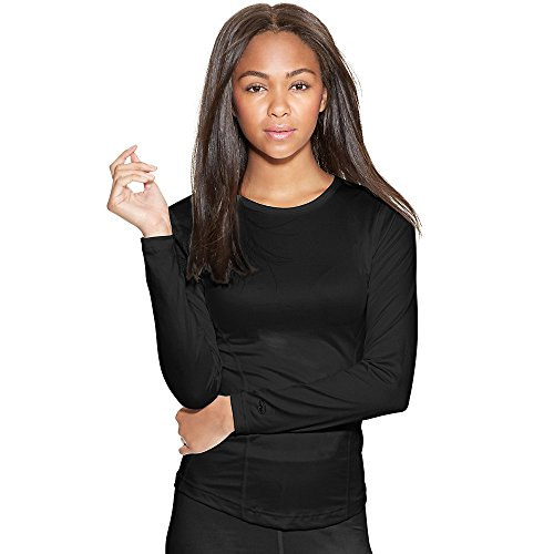 Varitherm Base Weight (Duofold Women's Mid Weight Varitherm Thermal Shirt, Black, Small)