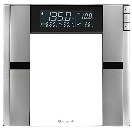 - Vitagoods Form Fit Digital Scale and Body Analyzer - Tracks Body Fat, Weight, Muscle/Bone Mass, Water Weight - 397 Pound Capacity