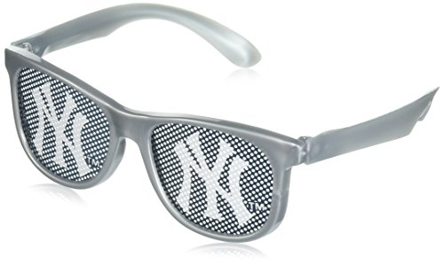 Sports and Tailgating MLB Party NY Yankees Printed Glasses Accessory, Gray/Blue, Plastic , 2